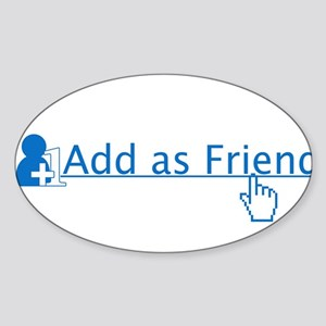 add as friend Sticker (Oval)