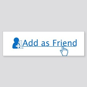 add as friend Sticker (Bumper)