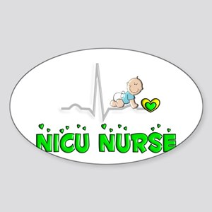 MORE NICU Nurse Sticker (Oval)