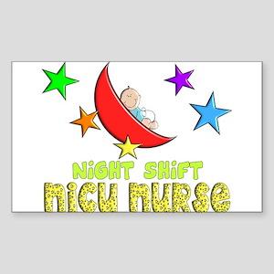 MORE NICU Nurse Sticker (Rectangle)