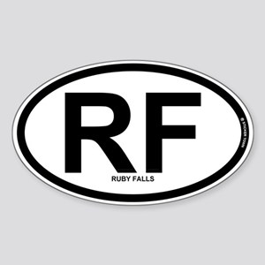 RF - Ruby Falls Sticker (Oval)