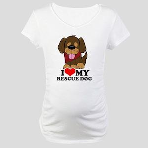I love my Rescue Dog Maternity T-Shirt