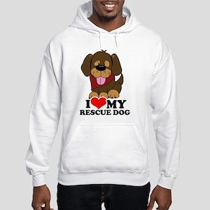 I love my Rescue Dog Hooded Sweatshirt