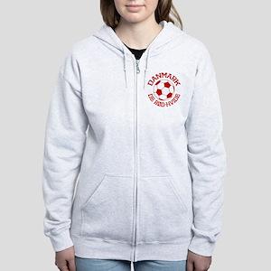Danmark Rod-Hvide Women's Zip Hoodie
