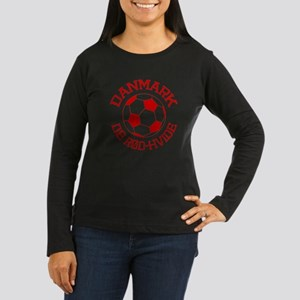 Danmark Rod-Hvide Women's Long Sleeve Dark T-Shirt