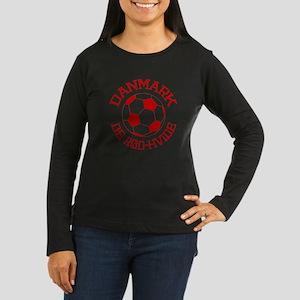 Danmark Rod-Hvide Women's Long Sleeve Dark T-Shirt