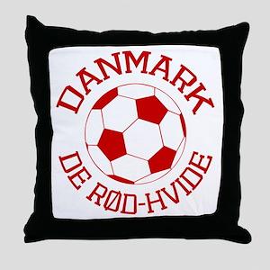 Danmark Rod-Hvide Throw Pillow