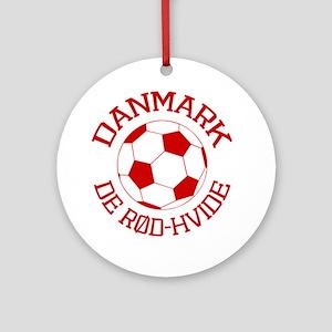 Danmark Rod-Hvide Ornament (Round)