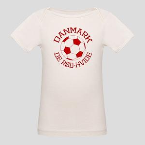 Danmark Rod-Hvide Organic Baby T-Shirt