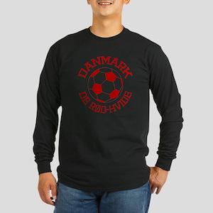 Danmark Rod-Hvide Long Sleeve Dark T-Shirt