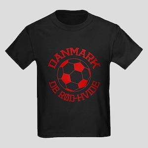 Danmark Rod-Hvide Kids Dark T-Shirt