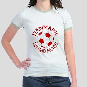 Danmark Rod-Hvide Jr. Ringer T-Shirt
