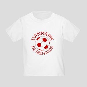 Danmark Rod-Hvide Toddler T-Shirt