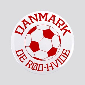 "Danmark Rod-Hvide 3.5"" Button"