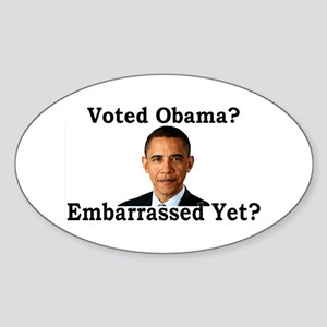 Embarrassed Yet? Sticker (Oval)