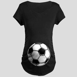 Maternity Dark T-Shirt- Soccer Ball Baby