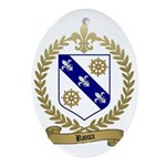RIOUX Family Crest Oval Ornament