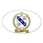 RIOUX Family Crest Oval Sticker