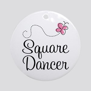 Cute Square Dancer Ornament (Round)