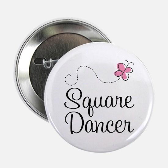 """Cute Square Dancer 2.25"""" Button"""
