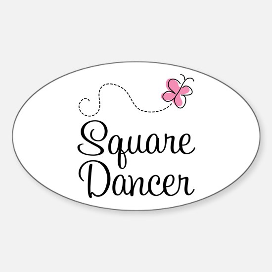 Cute Square Dancer Sticker (Oval)