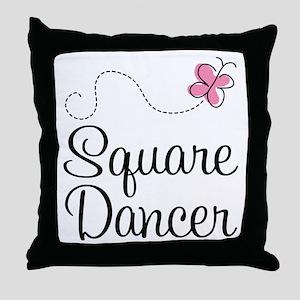 Cute Square Dancer Throw Pillow