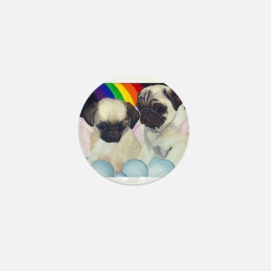 Pug Angels Mini Button