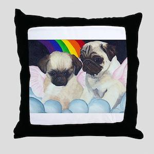 Pug Angels Throw Pillow