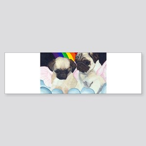 Pug Angels Bumper Sticker