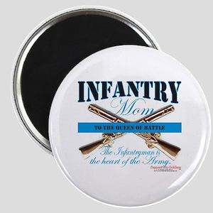 Infantry Mom IN Infantryman Magnet