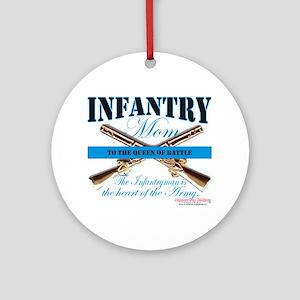 Infantry Mom IN Infantryman Ornament (Round)
