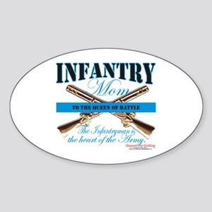Infantry Mom IN Infantryman Sticker (Oval)
