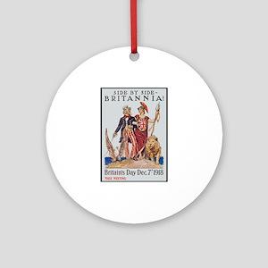 Britannia Friends Poster Art Ornament (Round)