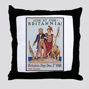 Britannia Friends Poster Art Throw Pillow