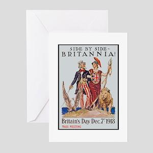 Britannia Friends Poster Art Greeting Cards (Packa