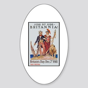 Britannia Friends Poster Art Oval Sticker