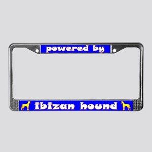 Powered by Ibizan Hound License Plate Frame