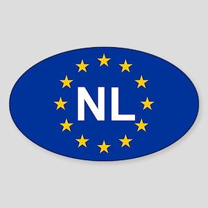 EU Netherlands Sticker (Oval)