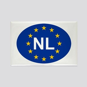 EU Netherlands Rectangle Magnet