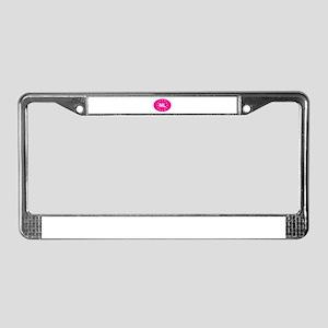 EU Pink Netherlands License Plate Frame