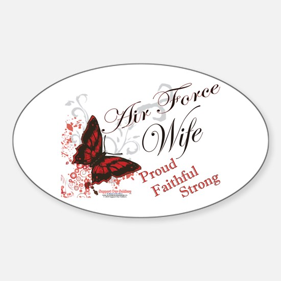 Air Force Wife Sticker (Oval)