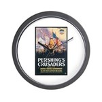 Pershing's Crusaders Poster Art Wall Clock