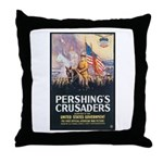 Pershing's Crusaders Poster Art Throw Pillow