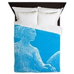 Fountain Of Two Oceans Queen Duvet Cover