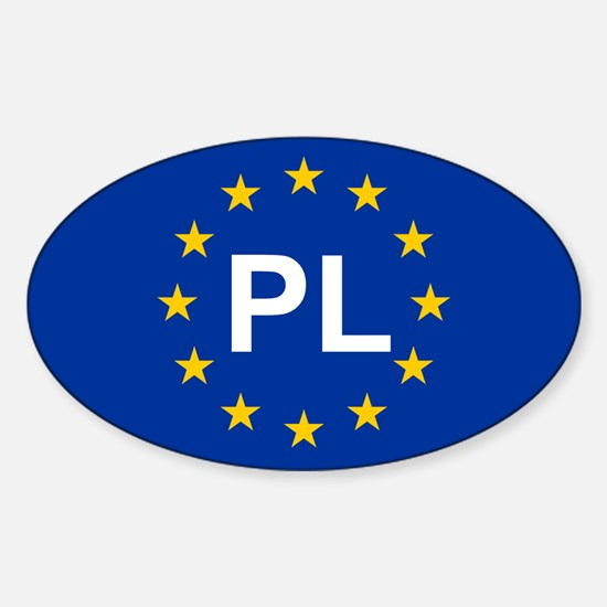 EU Poland Sticker (Oval)