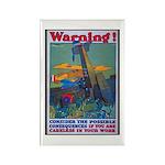 Careless Work Warning Poster Art Rectangle Magnet