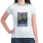 Careless Work Warning (Front) Jr. Ringer T-Shirt