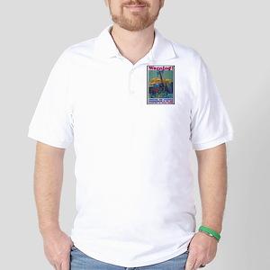 Careless Work Warning Poster Art Golf Shirt