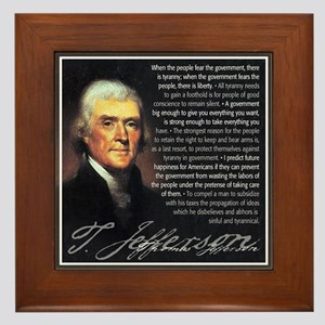 Jefferson: Liberty vs. Tyrann Framed Tile