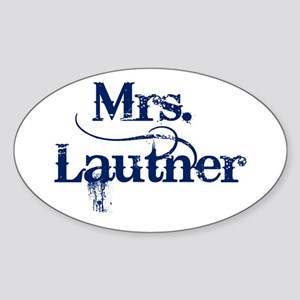 Mrs. Lautner Sticker (Oval)